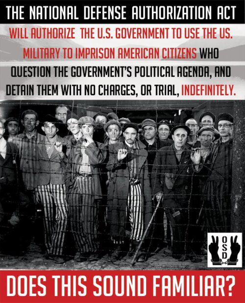 Call to Action! National Defense Authorization Act (S.1867) Makes America a Police State!